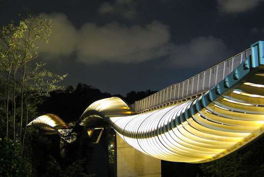Glowing Squiggle Bridges