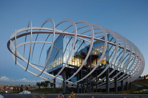Elliptical-Encased Buildings