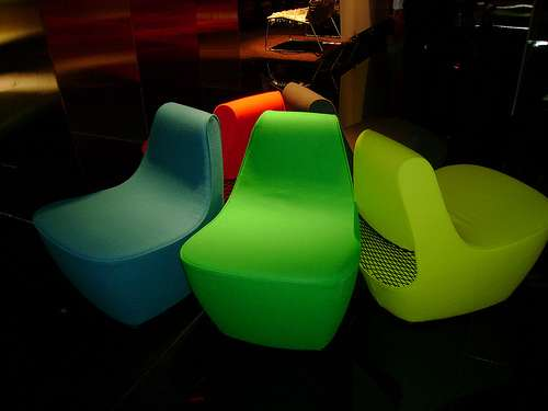Curvy Neon Chairs