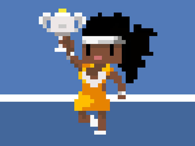 Pixelated Tennis Career Games