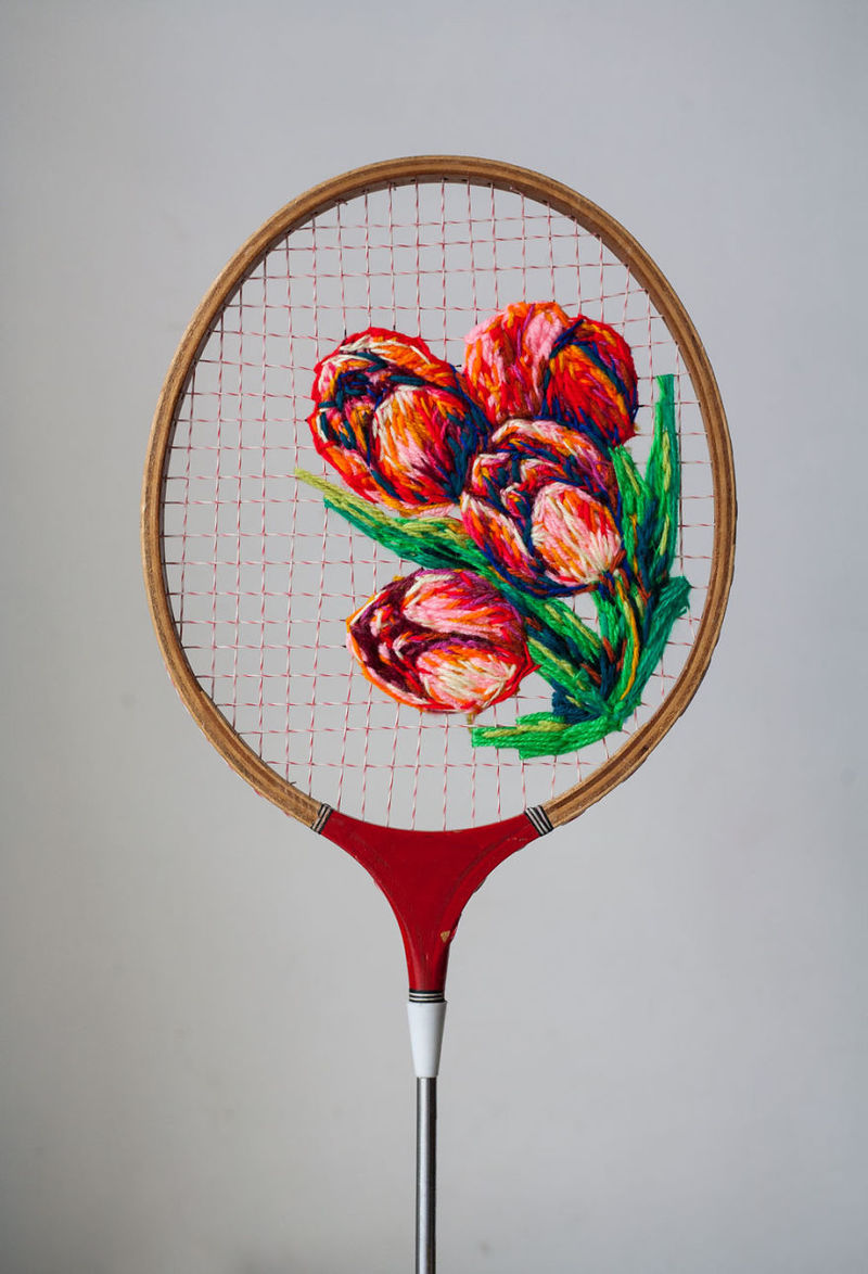 Embroidered Racket Artworks