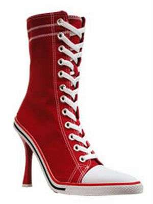 tennis shoes stilettos the converse high heel sneakers