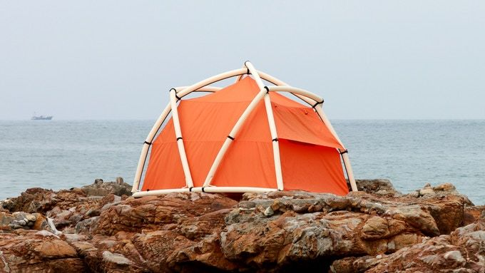 Inflatable Geodesic Tents