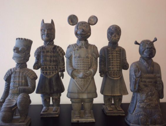 Ancient Pop Culture Statues
