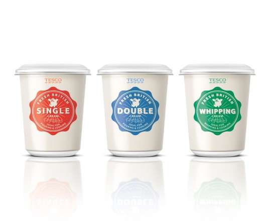Retro Dairy Pot Branding