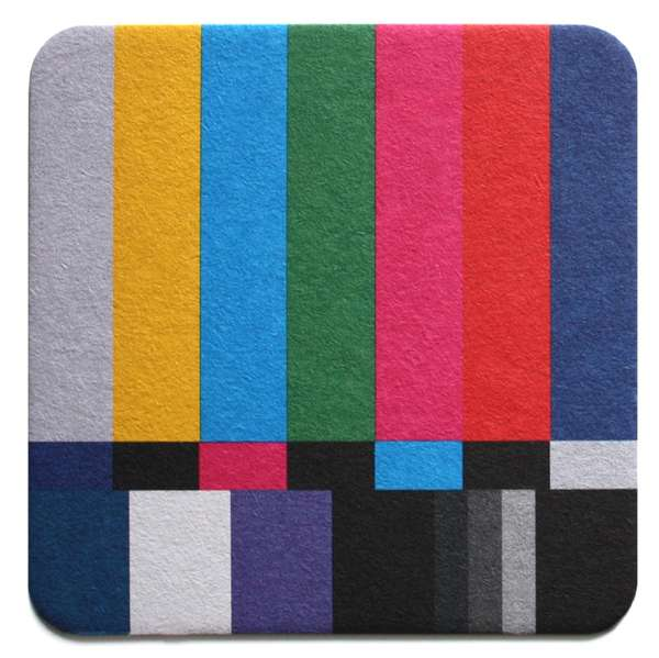 Television-Themed Drink Mats