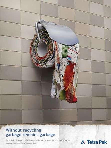 Garbage Toilet Paper Tetra Pak Print Campaign