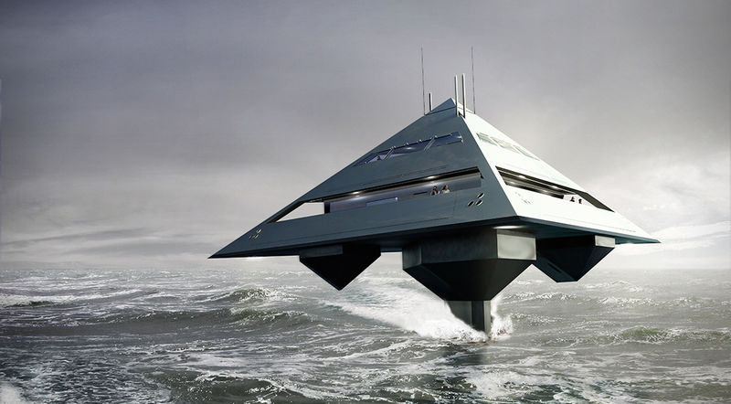 Pyramid-Shaped Yachts