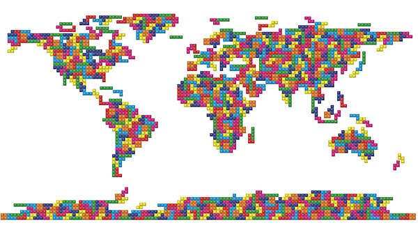 Pixelated Cartography Renderings