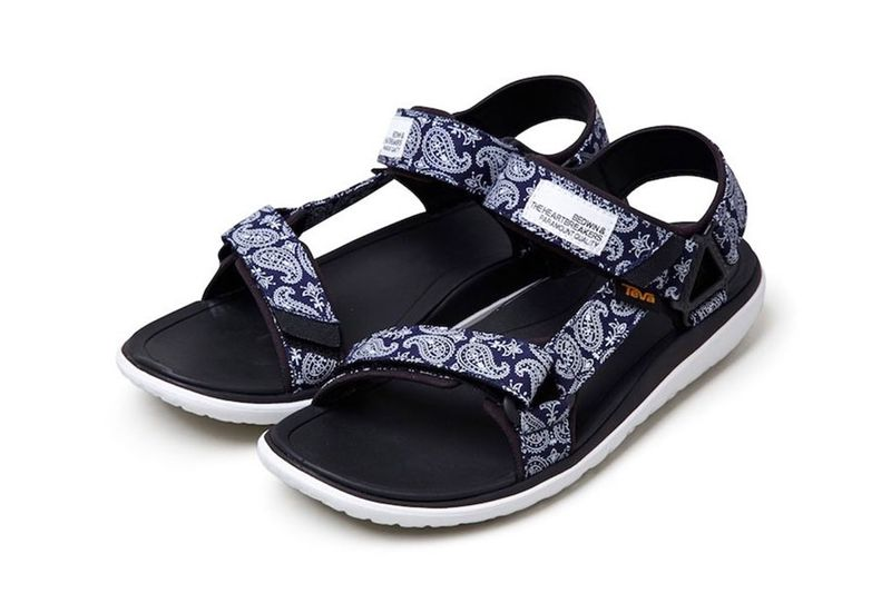 Masculine Bandanna-Print Sandals