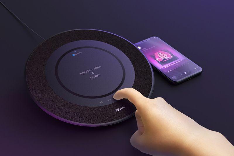 Qi-Enabled Desktop Speakers