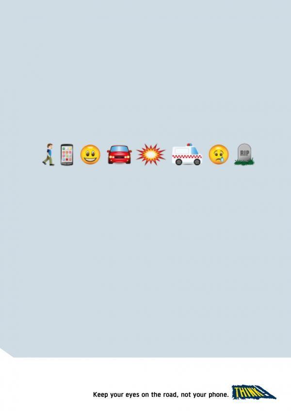 Morbid Emoji Texting Ads