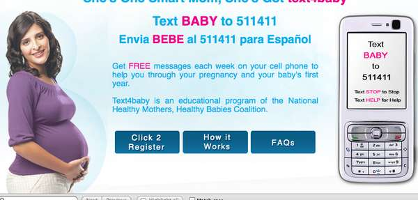 Text Message Pregnancy Tips