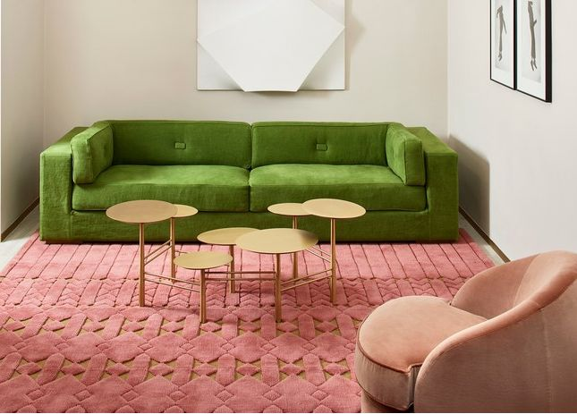 Unconventionally Colored Textured Rugs