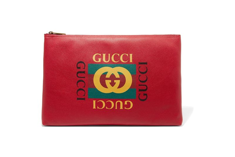 Luxe Logo-Printed Clutches