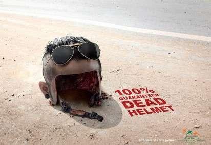 Human Helmet Ads