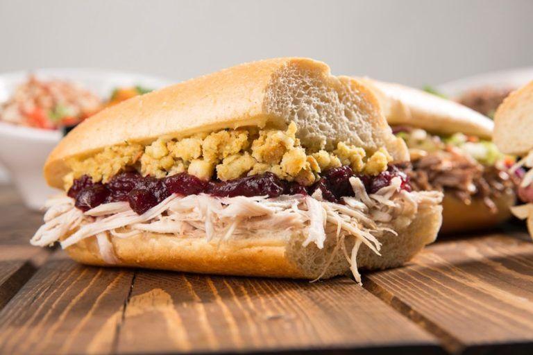 Layered Thanksgiving Sandwiches