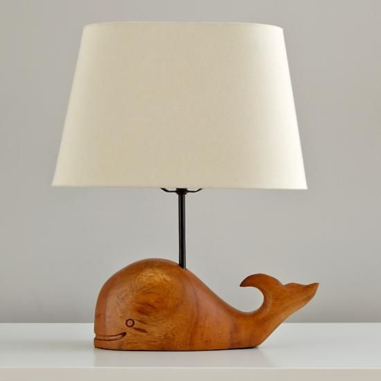 Marine Creature Wooden Lamps