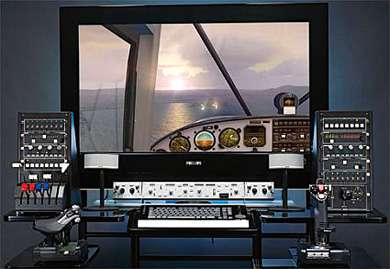 Home Made $230,000 Boeing 747 Flight Simulator