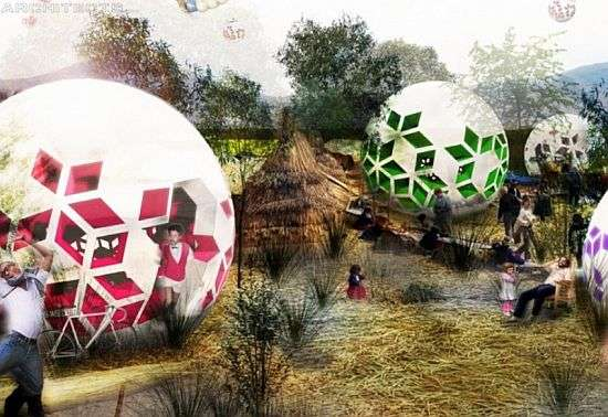Ball-Shaped Eco Homes