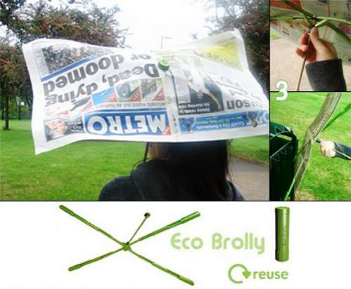 Eco Umbrellas Made of Garbage