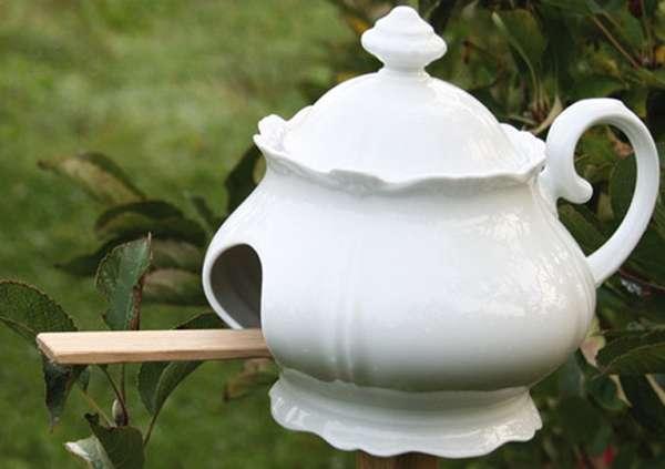 Coffee Pot Birdhouses