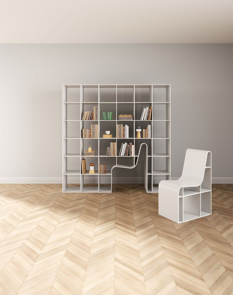Chair Bookshelf Hybrids