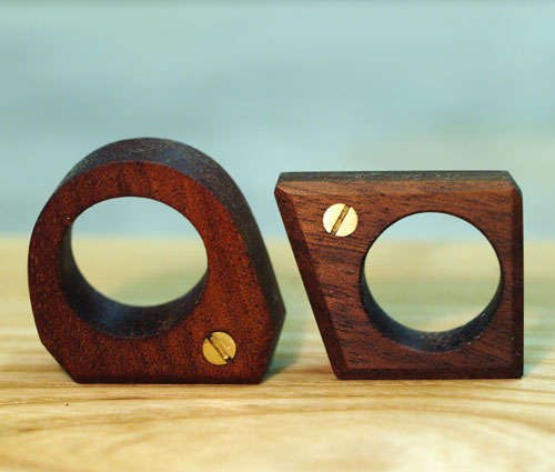 Screwed Wooden Jewelry