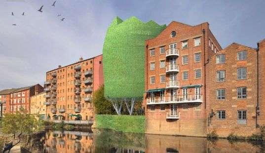 Protruding Eco-Buildings