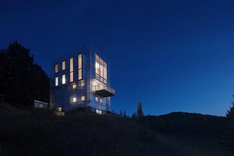 Landscape-Blending Tower Structures