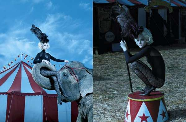 Circus-Themed Fashion Photoshoots