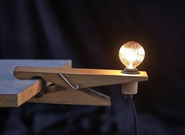 Quirky Clothespin Lights : the Clamp Lamp