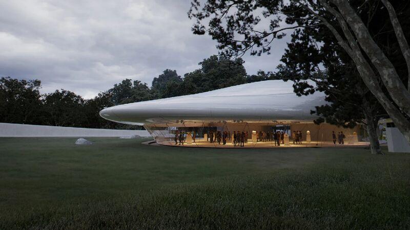 Floating Cloud-Inspired Buildings