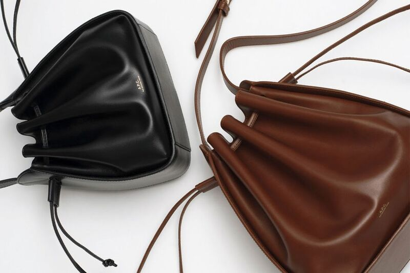 Structured Leather Bucket Bags
