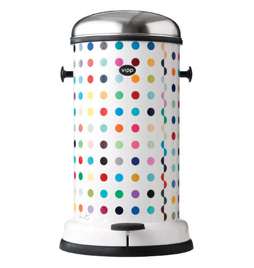 Polk-a-Dot Garbage Cans