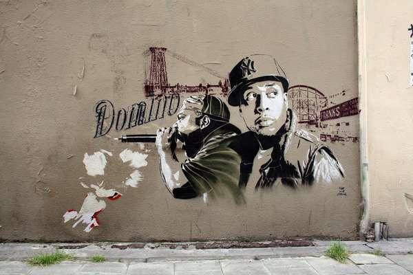 Instrumentalist Street Stencils