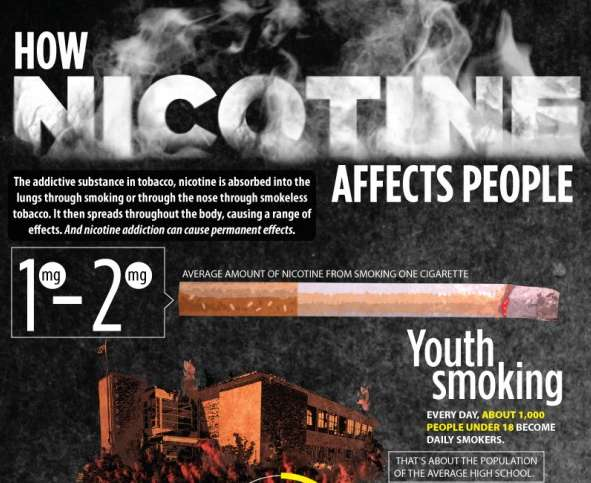 Negative Nicotine Effects Infographics