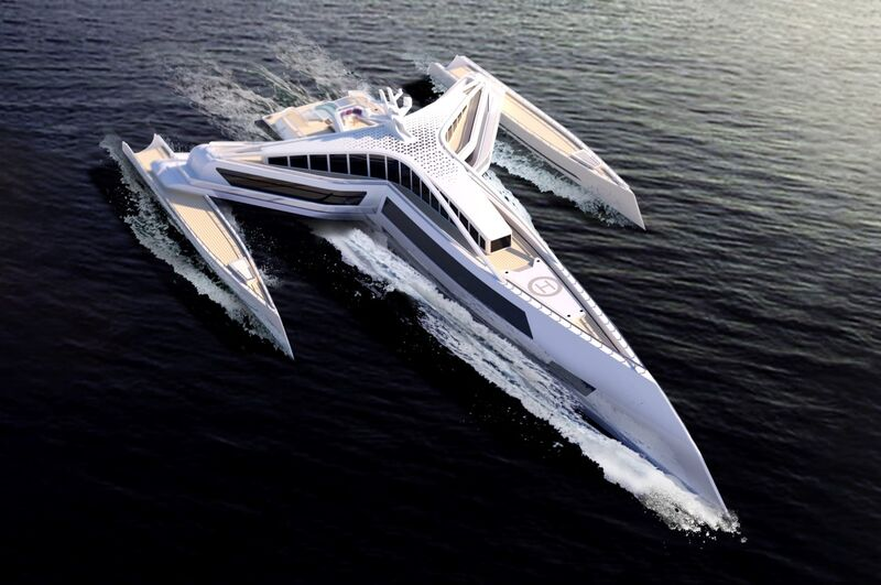 Sci-Fi-Inspired Luxurious Superyachts