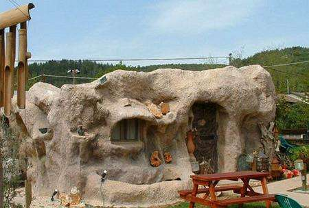 Fine Caveman Houses The Flintstones House Can Be Lived In Home Interior And Landscaping Staixmapetitesourisinfo