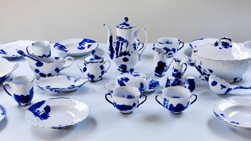 Print-Marked Porcelain Tableware