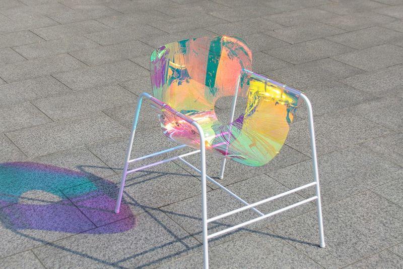 Iridescent Rainbow Chairs