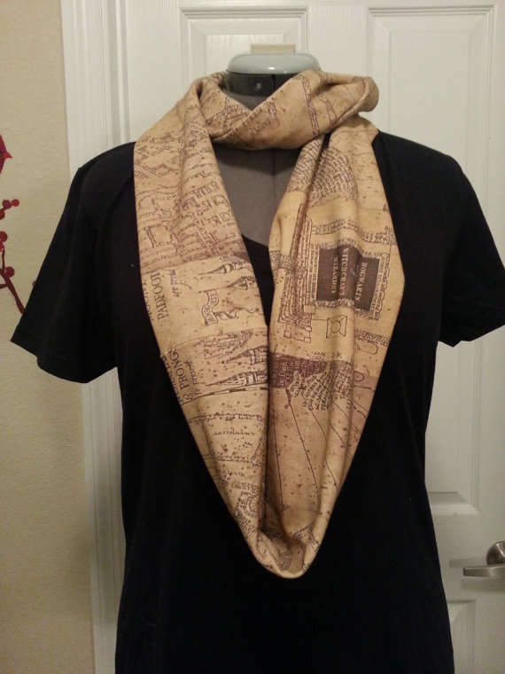 Magical Map-Printed Scarves
