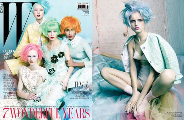Pastel-Haired Editorials