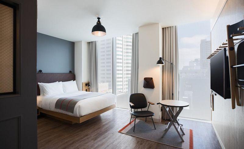 Funky Minimal Hotel Designs The Moxy Hotel