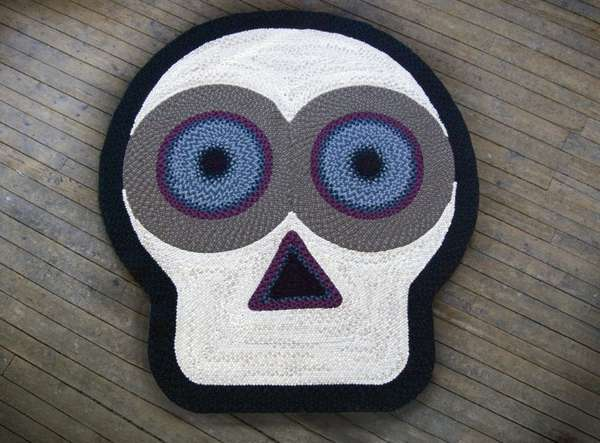 Knitted Skull Rugs