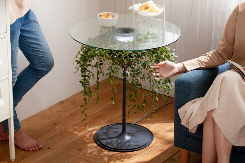 Greenery-Supporting Side Tables