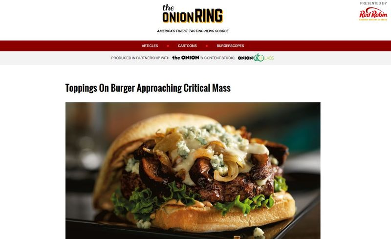 Humorous Burger Websites