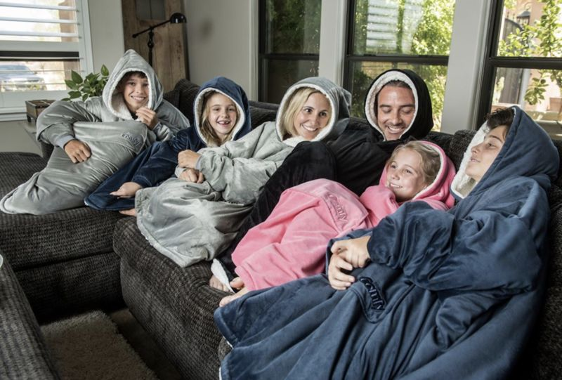 Hooded Micro Fleece Blankets - 'The Original Comfy' is a Cross Between a Hoodie and a Blanket (TrendHunter.com)