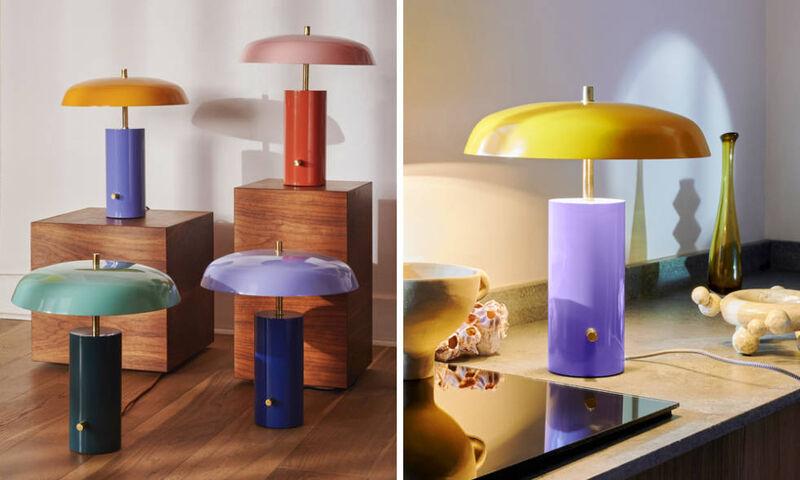 Colorful Retro Inspired Desk Lamps, Colorful Desk Lamps