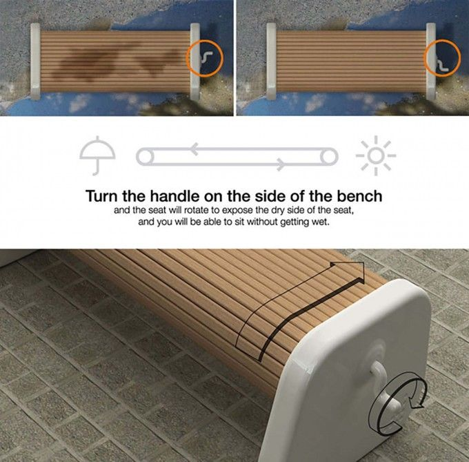 Rotating Park Benches
